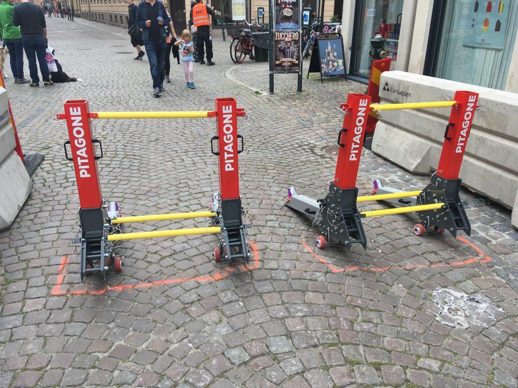 Bezpečnostní obilní bariéry v Malmö