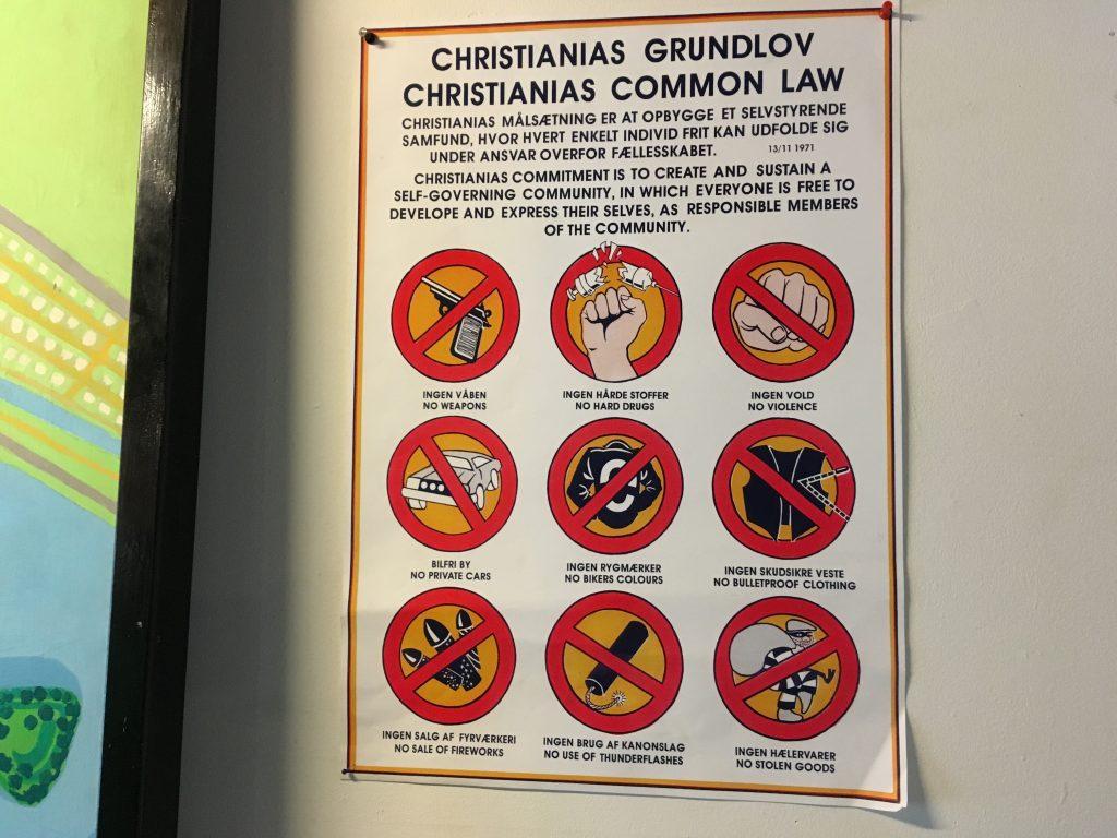 Zákony ve Svobodném městě Christiania