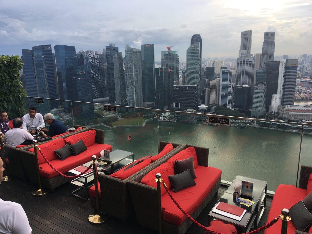 Výhled na marinu z Marina Bay Sands
