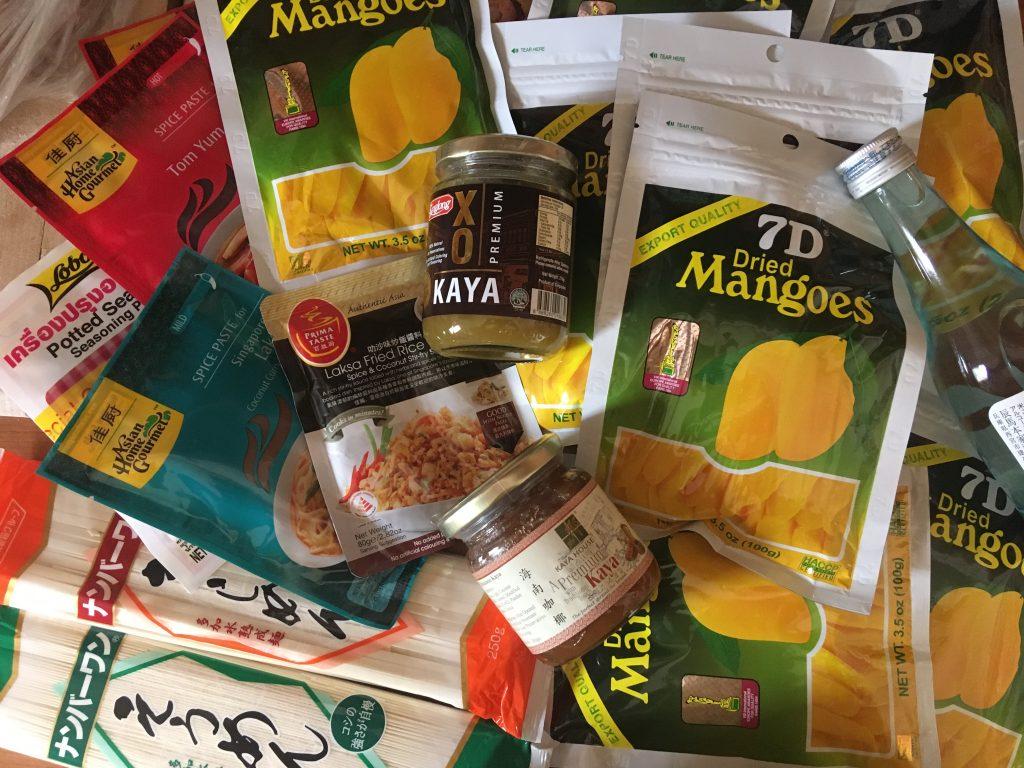 Sušené filipínské mango, Kaya a další suvenýry