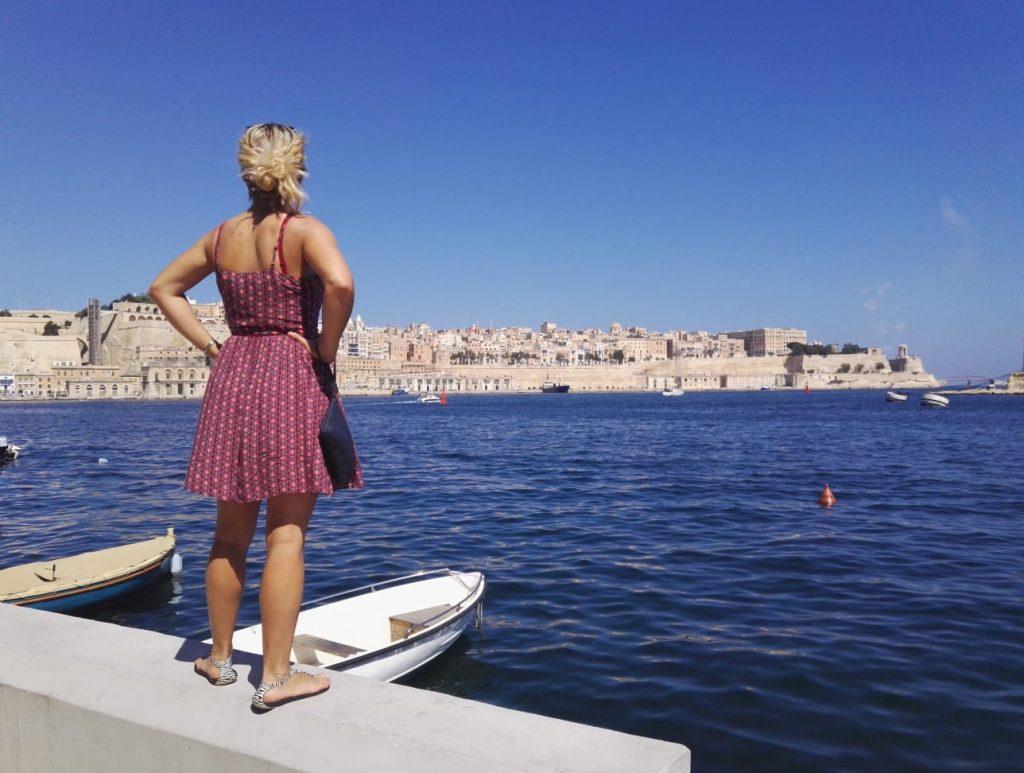 Výhled na Vallettu ze Senglea