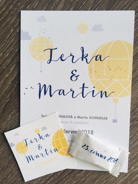 Cestovateské svatební oznámení