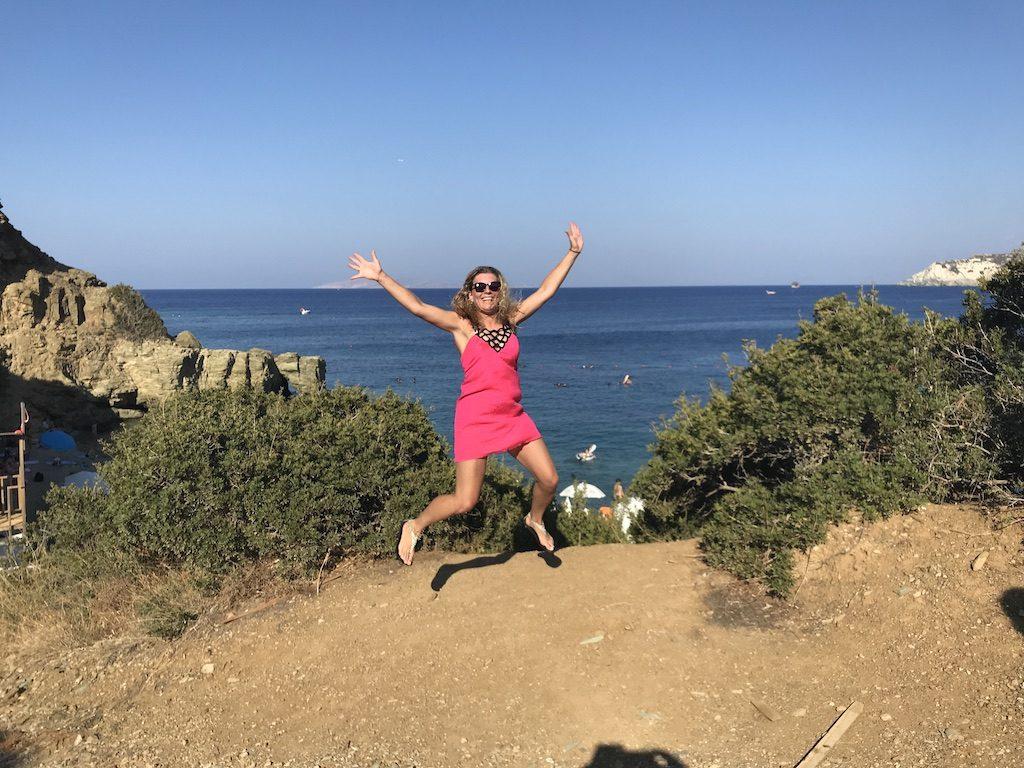 Radost na Krétě a jedny z 5 šatů, co jsem měla s sebou