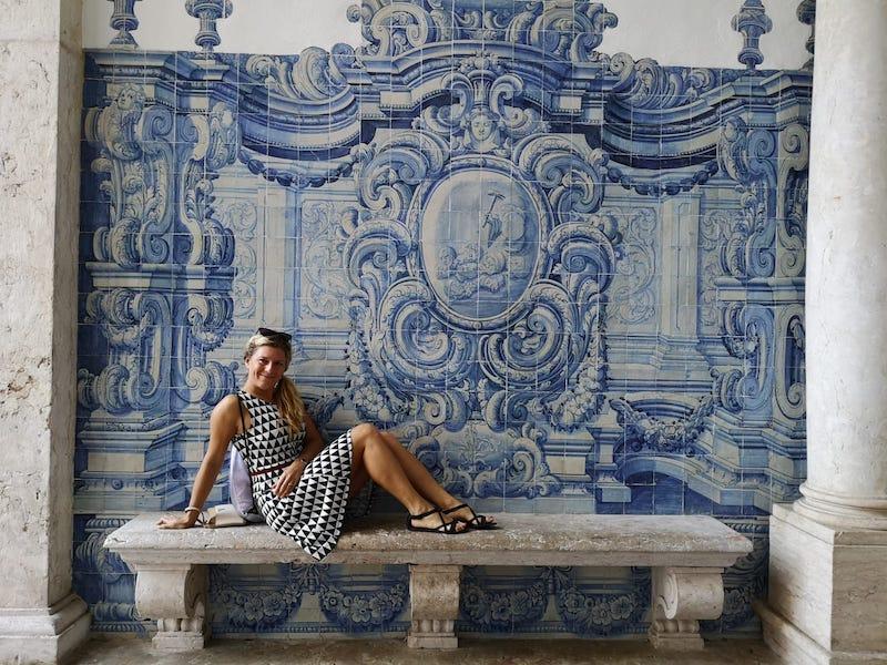 Modré azulejos - kachličky po celém Lisabonu