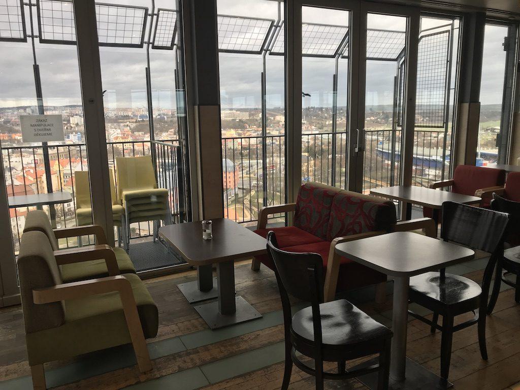Sky café v 16. patře Mrakodrapu