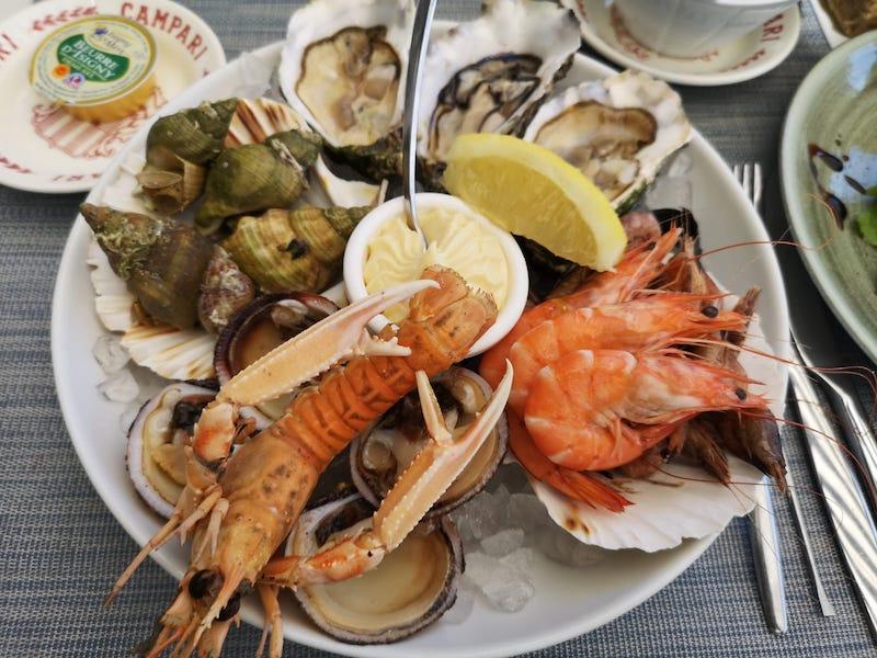 Normandie - mořské plody všude