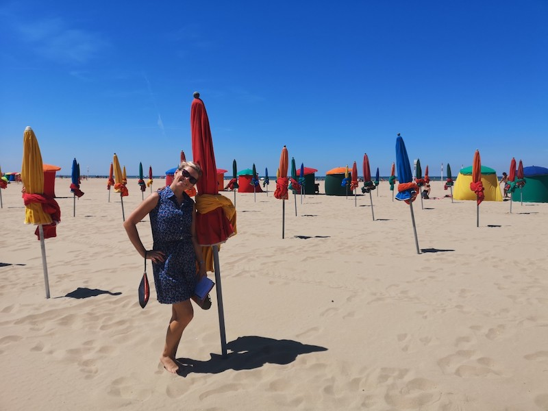 Mega pláž v Deauville