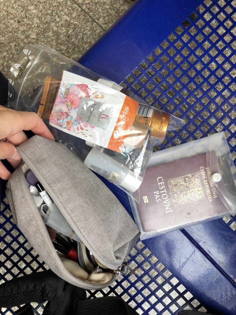 Dostala jsem pas a přebalila kosmetiku do uzavíratelného pytlíku
