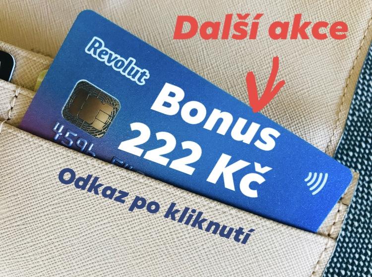 Revolut bonus 222 Kč