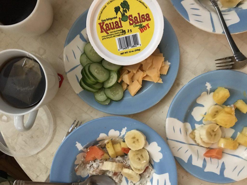Naše typická snídaně na Havaji