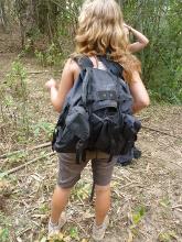 I tohle je zavazadlo - použité na třídenní trek v Thajsku