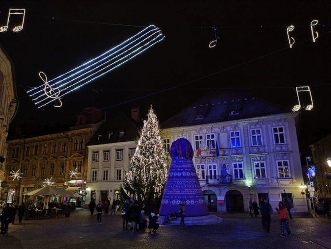 Vánoční trhy v Lublani