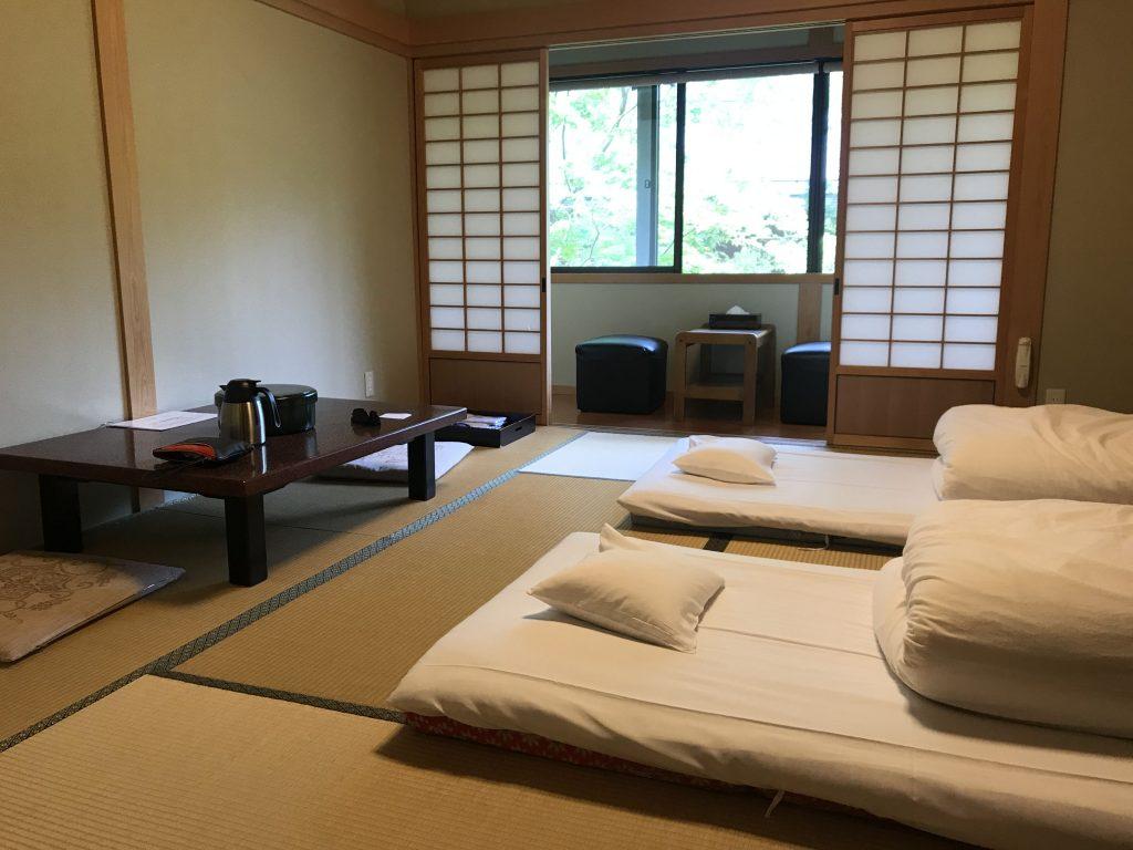 Ubytování v klášteře v Japonsku