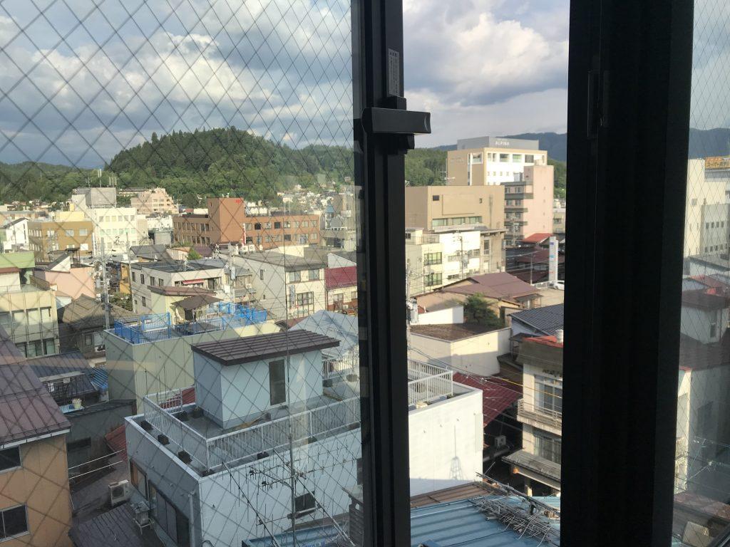 Výhled z pokoje Best Western Hotel Takayama