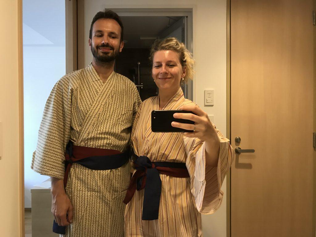 Jukata - tradiční kimono nabízené v hotelích nebo onsenech