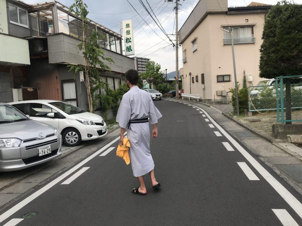 Do koupelny přes ulici - ubytování v Japonsku