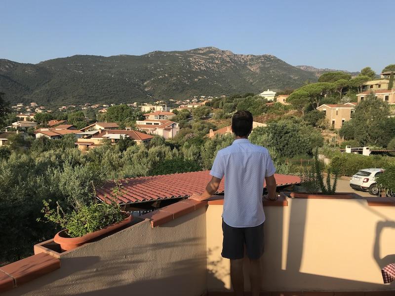 Výhled v Vily Rafael na Sardínii