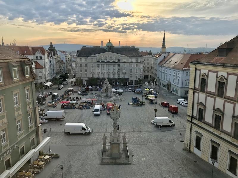 Výhled z hotelu Anybody