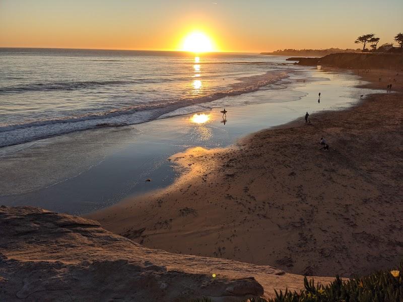 Hanky oblíbená pláž v Santa Cruz