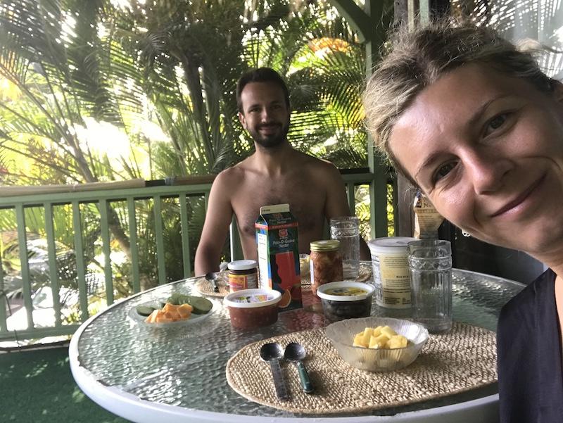 Snídaně ze supermarketi na Havaji