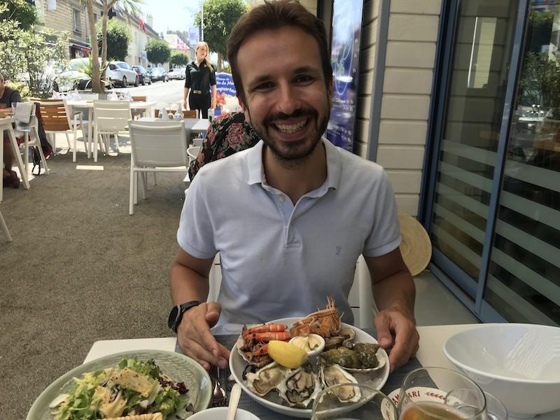 Poldení menu v Normandii - mořské plody za přijatelnou cenu