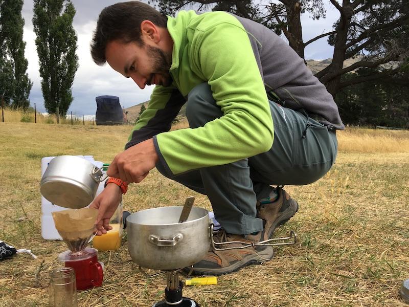 Na kvalitní kávu je vždy prostor, i v kempu na Novém Zélandu