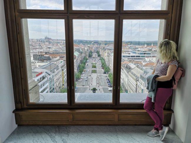 Národní muzeum - výhled z kupole