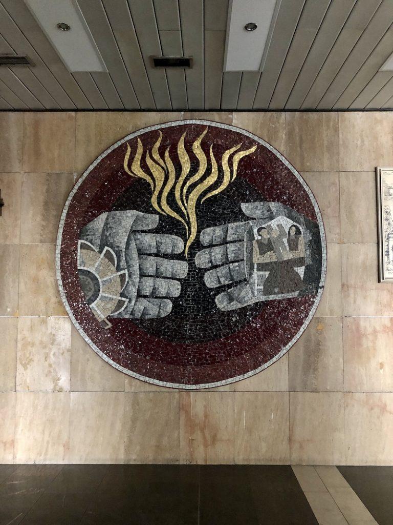 Mozaika v mrakodrapu