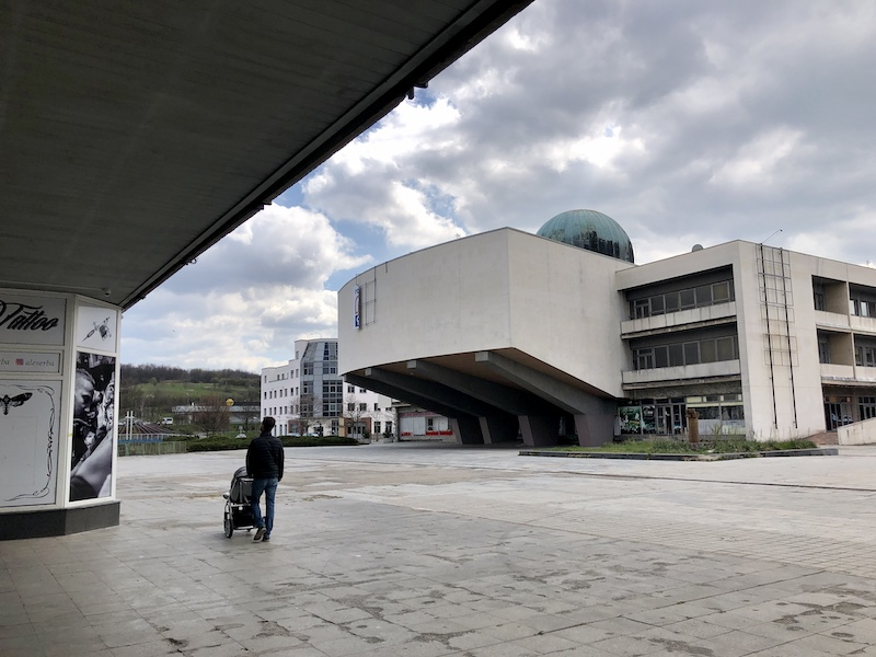 Pohled na Repre a Planetarium od Prioru