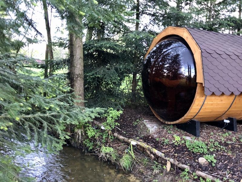 Sauna s výhledem do přírody