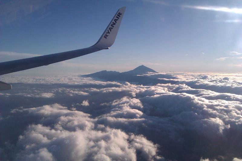 El Teide z letadla