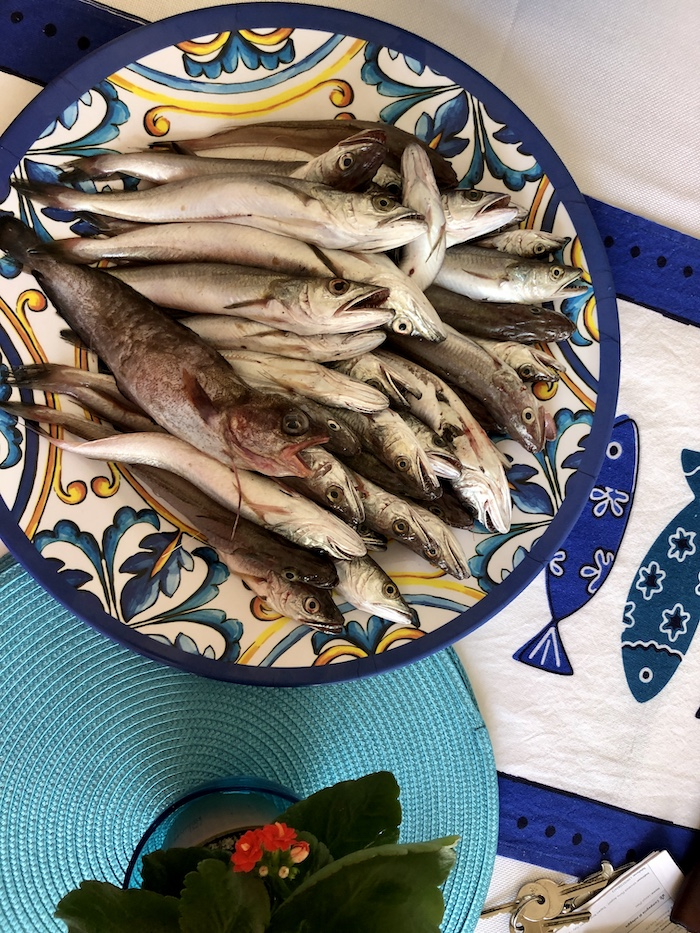 Tresky z rybího trhu